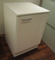 Printerskap / dypt skap i hvitt fra Trece, bredde 60cm, dybde 60cm, høyde 90cm, pent brukt