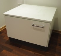 Printerskap / dypt skap i hvitt fra Trece, bredde 64cm, dybde 60cm, høyde 52cm, pent brukt