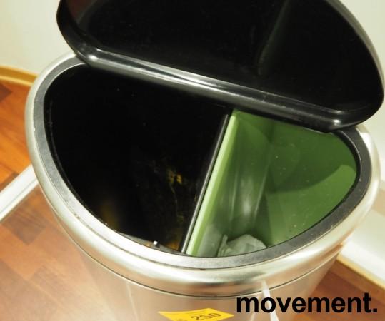 Brabantia søppelbøtte, 2 innvendige bøtter, pent brukt bilde 2