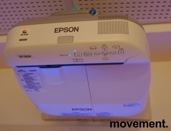 Epson Short-throw-prosjektor: EB585W, 1280x800 Widescreen, HDMI, 3300Lumen, pent brukt bilde 2