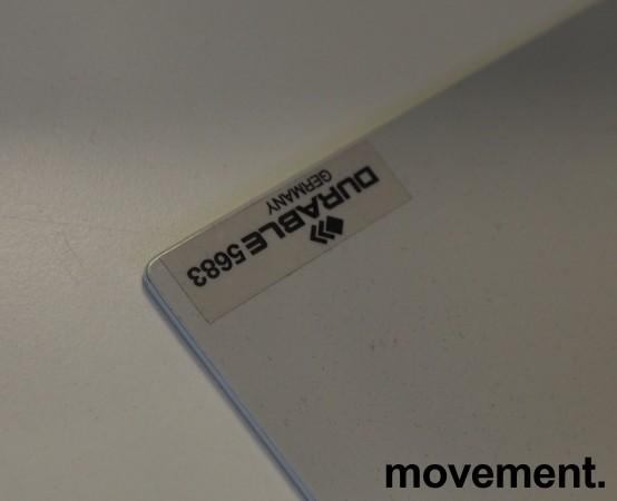 Oppslagslommer for skrivebord, 10x2 stk A4, Durable, bordfot i metall, pent brukt bilde 2