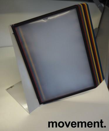 Oppslagslommer for skrivebord, 10x2 stk A4, Durable, bordfot i metall, pent brukt bilde 1