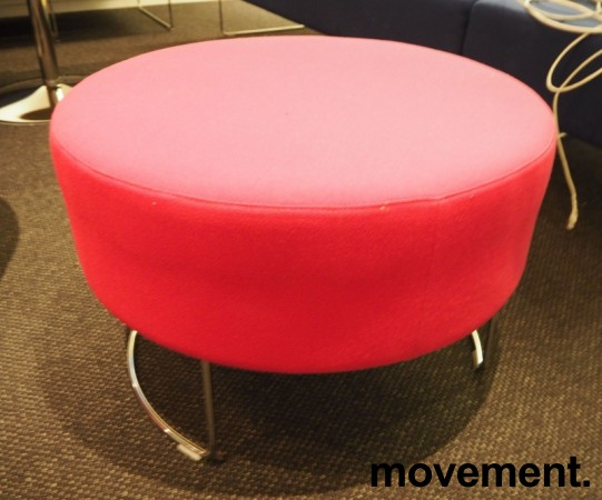 VAD Pivot rund puff / puffmodul i rosa stoff, Ø=68cm, pent brukt bilde 2