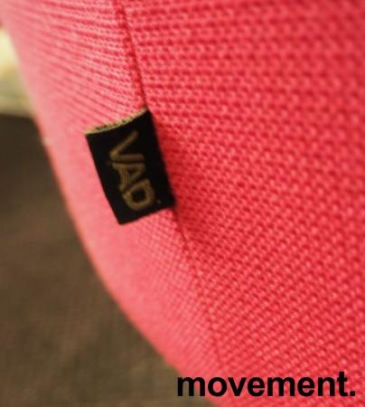 VAD Pivot rund puff / puffmodul i rosa stoff, Ø=68cm, pent brukt bilde 3