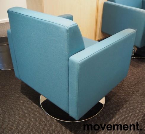 Loungstol / lenestol i sjøgrønt stoff fra VAD, pent brukt bilde 2