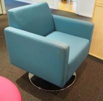 Loungstol / lenestol i sjøgrønt stoff fra VAD, pent brukt
