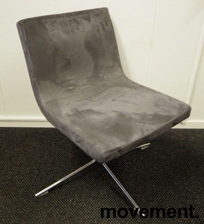 Konferansestol / besøksstol i mørk grå mikrofiber fra Offecct, modell Bond, pent brukt bilde 1