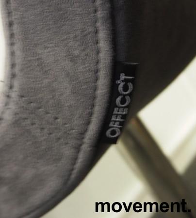 Konferansestol / besøksstol i mørk grå mikrofiber fra Offecct, modell Bond, pent brukt bilde 3