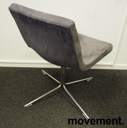 Konferansestol / besøksstol i mørk grå mikrofiber fra Offecct, modell Bond, pent brukt bilde 2