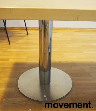 Møtebord i bjerk / krom 220x100cm, passer 6-8 personer, brukt bilde 3