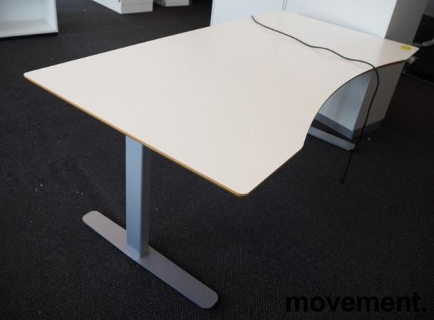 Skrivebord med elektrisk hevsenk i hvitt / grått fra Edsbyn, 180x90cm, pent brukt bilde 2