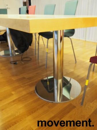 Møtebord i bjerk / krom, 420x110cm, passer 14-16 personer, pent brukt bilde 3