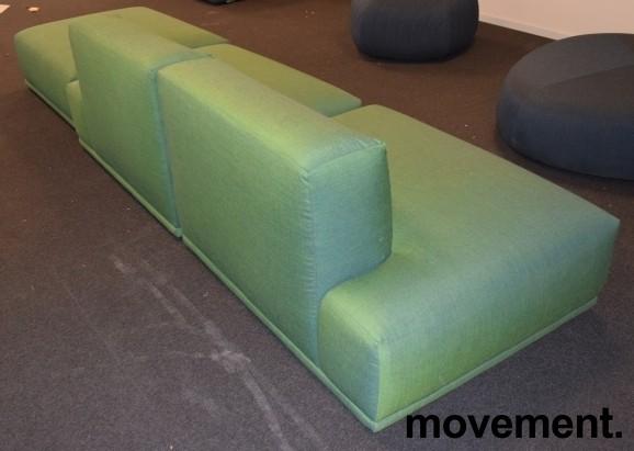Muuto design-sofa, modell Connect modulsofa, 360cm bredde i grønt stoff, pent brukt bilde 2