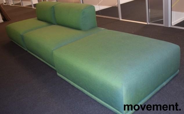 Muuto design-sofa, modell Connect modulsofa, 360cm bredde i grønt stoff, pent brukt bilde 1