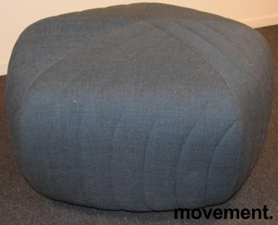 Loungemøbel, puff i grått stoff, Muuto Five, Design: Anderssen & Voll, pent brukt bilde 2