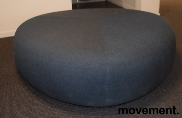 Loungemøbel, stor puff, LaPalma Kipu d05 i grått stoff, Ø=130cm, pent brukt bilde 1