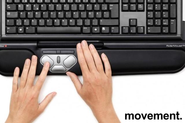 Rollermouse Pro2 USB i sort, ergonomisk tastaturmus mot musearm, pent brukt bilde 1