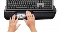 Rollermouse Pro2 USB i sort, ergonomisk tastaturmus mot musearm, pent brukt
