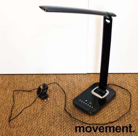 Aluminor LED-bordlampe, modell BOB i sort, LED-belysning til skrivebordet, pent brukt bilde 3