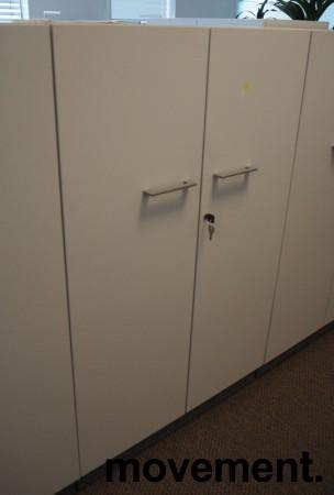 Martela Combo ringpermreol med dører i lys grå,3H, 126 cm H, pent brukt bilde 1