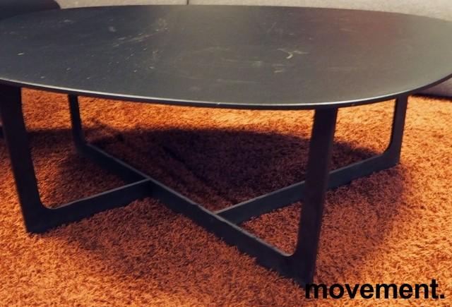 Loungebord i sort, Erik Jørgensen Insula EJ191, Design: Ernst & Jensen, pent brukt bilde 2