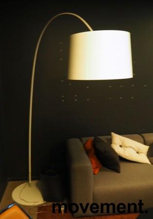 Foscarini Twiggy Terra stålampe i hvitt, høyde ca 210cm, pent brukt bilde 3
