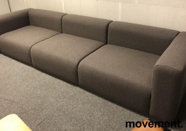 HAY Design-sofa, modell Mags 321cm bredde i grått, 3 moduler, pent brukt bilde 1