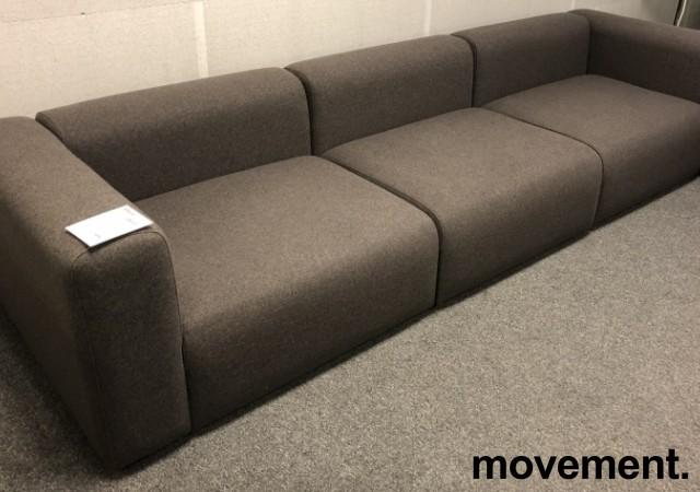 HAY Design-sofa, modell Mags 321cm bredde i grått, 3 moduler, pent brukt bilde 2
