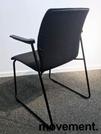 Konferansestol i sort, sortlakkerte meier, sorte armlener, modell LINE Lounge, NY/UBRUKT bilde 4