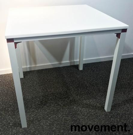 Kafebord / utebord / kantinebord i hvitt, 75x75cm, modell Glatt, NYTT bilde 2