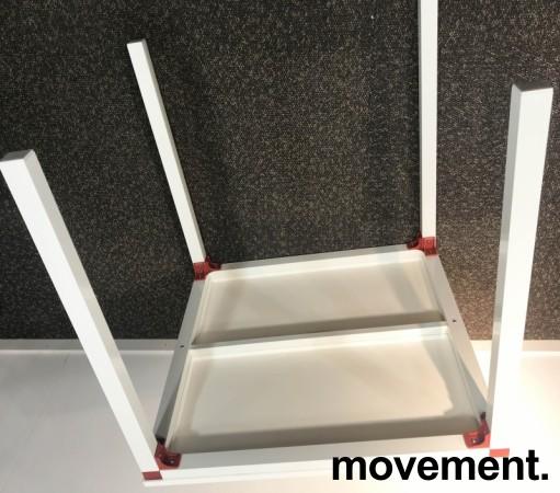 Kafebord / utebord / kantinebord i hvitt, 75x75cm, modell Glatt, NYTT bilde 5