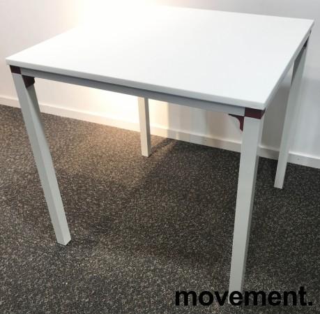 Kafebord / utebord / kantinebord i hvitt, 75x75cm, modell Glatt, NYTT bilde 3