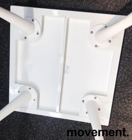 Kafebord / utebord / kantinebord i hvitt, 75x75cm, modell Plat K/D, NYTT bilde 4