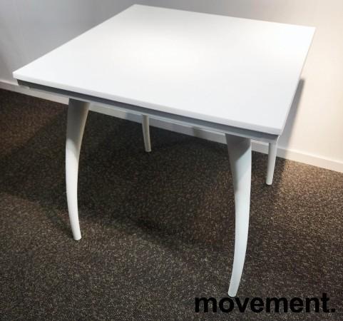 Kafebord / utebord / kantinebord i hvitt, 75x75cm, modell Plat K/D, NYTT bilde 3