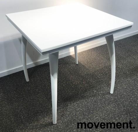 Kafebord / utebord / kantinebord i hvitt, 75x75cm, modell Plat K/D, NYTT bilde 2