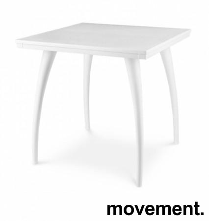 Kafebord / utebord / kantinebord i hvitt, 75x75cm, modell Plat K/D, NYTT bilde 1
