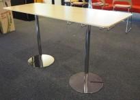 Barbord / ståbord i eik / krom fra Skandiform, modell Slitz, 165x65cm, høyde 91cm, pent brukt