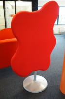 Lyddempende skillevegg i rødt stoff Glimakra, Wannabetree no5, 110x175cm, pent brukt