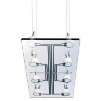 Flos Lastra 8 - Design: Citterio/Löw, pendellampe 120x80cm i glass, pent brukt