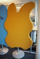 Lyddempende skillevegg i gult stoff Glimakra, Wannabetree no6, 120x208cm, pent brukt