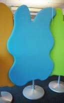 Lyddempende skillevegg i blått stoff Glimakra, Wannabetree no6, 120x208cm, pent brukt