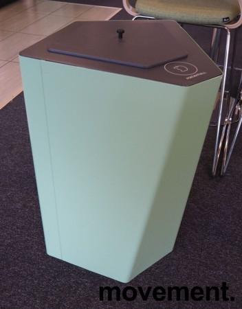 Søppelbøtte / papirkurv / kildesortering for matavfall i lys grønn fra Trece, pent brukt bilde 1
