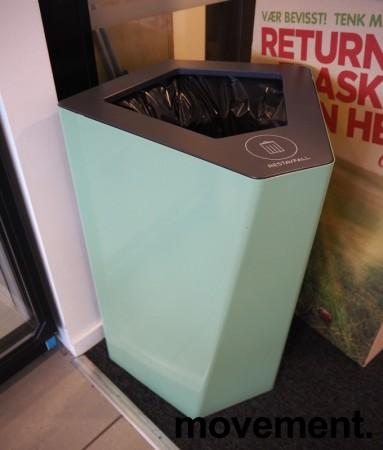 Søppelbøtte / papirkurv / kildesortering for restavfall i lys grønn fra Trece, pent brukt bilde 1