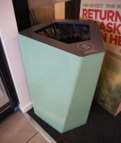 Søppelbøtte / papirkurv / kildesortering for restavfall i lys grønn fra Trece, pent brukt