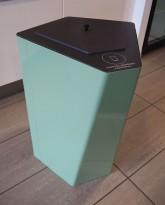Søppelbøtte / papirkurv / kildesortering for pappavfall i lys grønn fra Trece, pent brukt