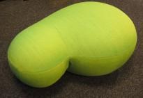 Puff / loungemøbel i grøntt stoff, 73x50cm, høyde 33cm, Puppa fra Blå Station, pent brukt