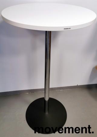 Ståbord i hvitt / krom fra Altistore, Ø=65cm, høyde 111cm, pent brukt bilde 1