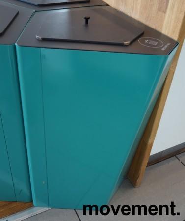Søppelbøtte / papirkurv / kildesortering for restavfall i turkis fra Trece, pent brukt bilde 1