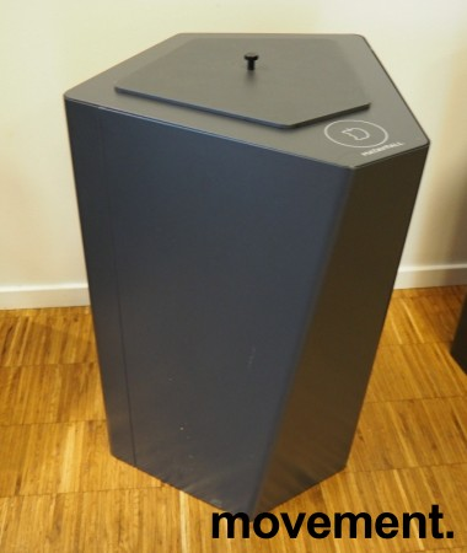Søppelbøtte / papirkurv / kildesortering for matavfall i grått fra Trece, pent brukt bilde 1