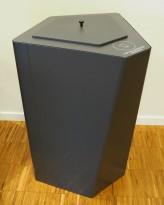 Søppelbøtte / papirkurv / kildesortering for papiravfall i grått fra Trece, pent brukt